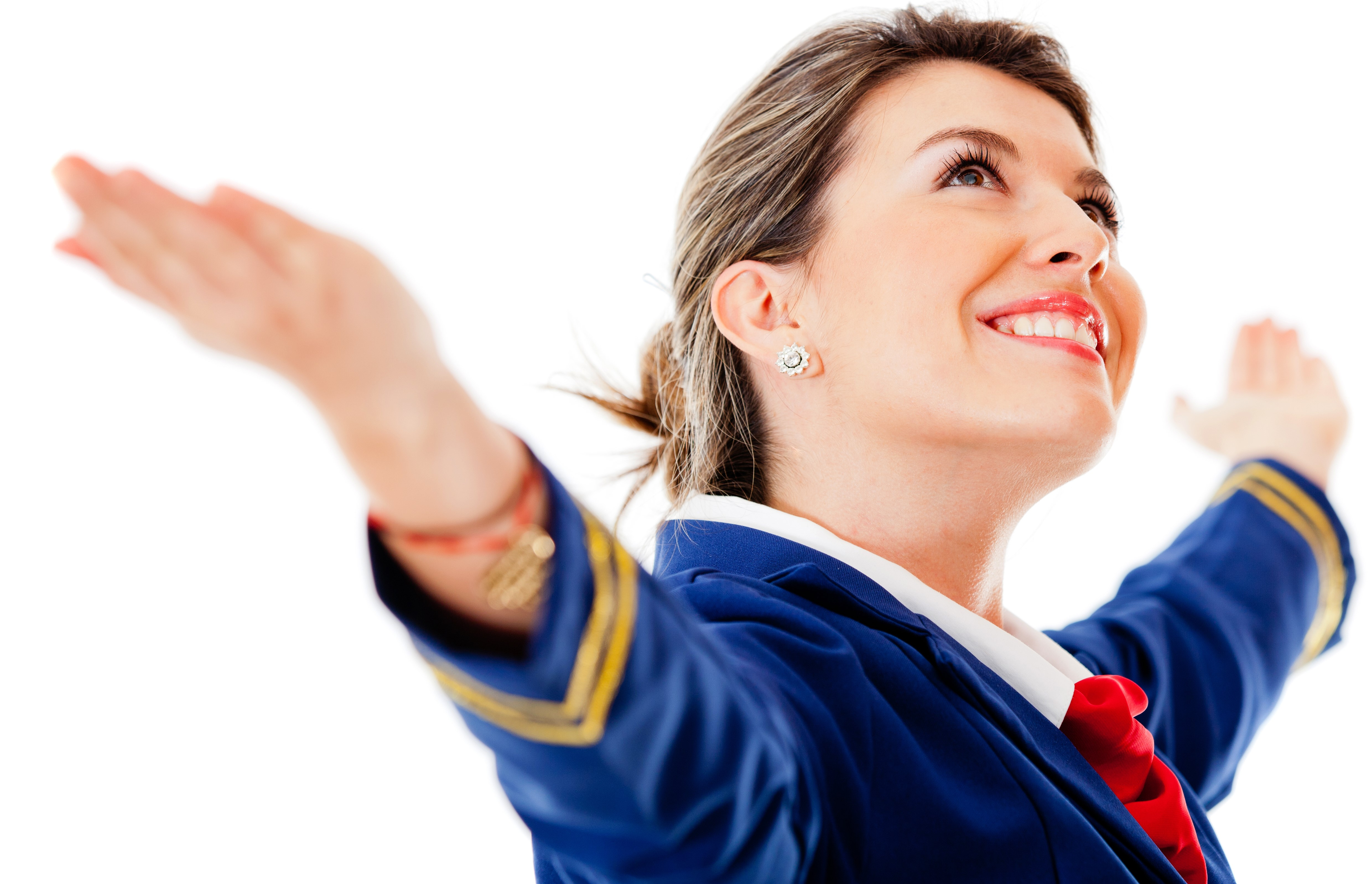 flight attendent arms open2
