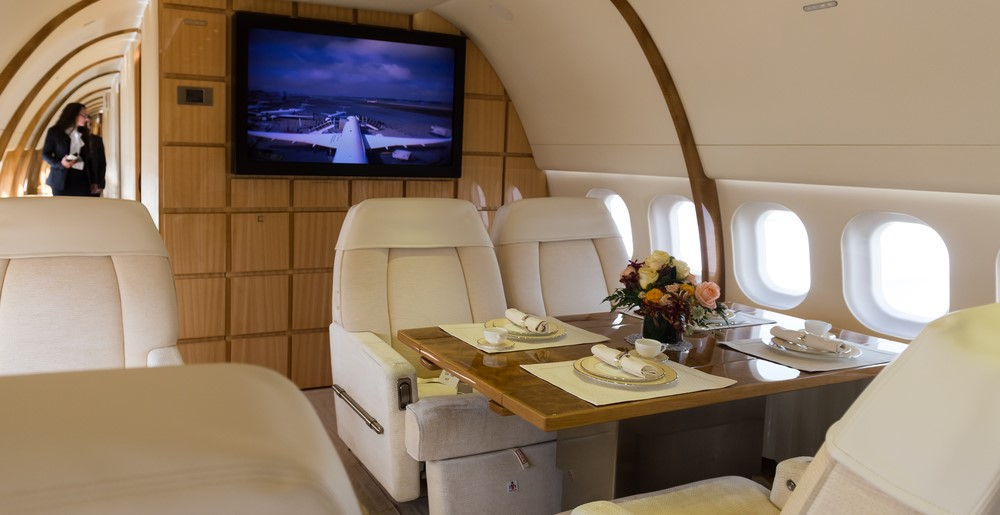 luxury cabin in aircraft