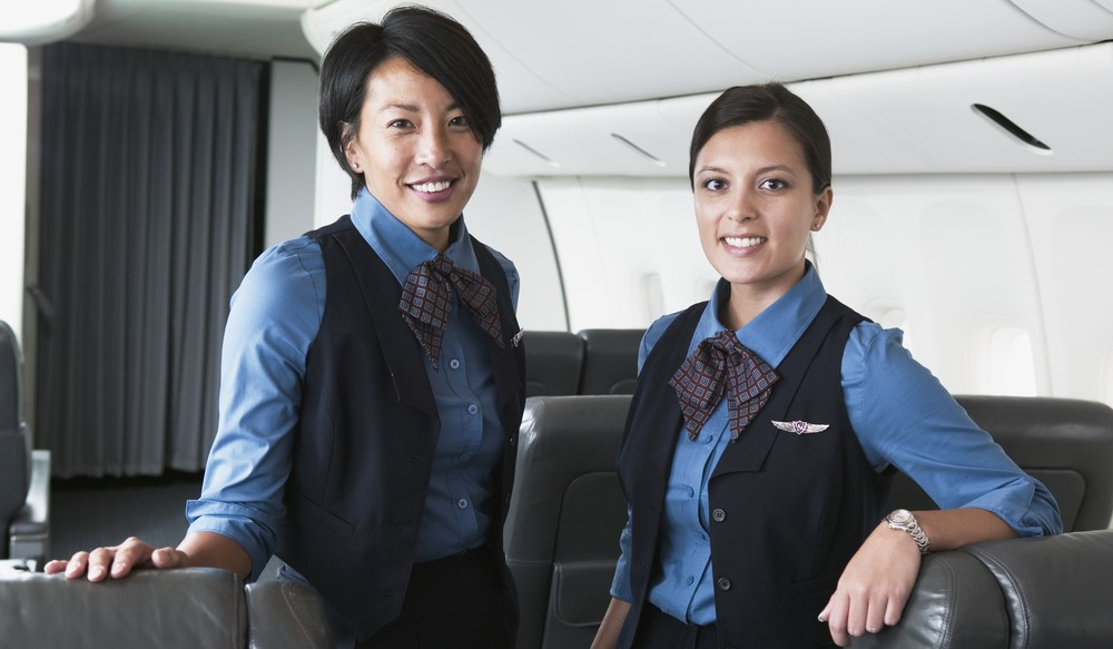 Aviation hiring in 2018 - cabin crew on plane